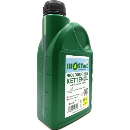 1 Liter BIOSTAR Biologisches Kettenöl KK 100 für alle gängigen Motorsägen-Fabrikate