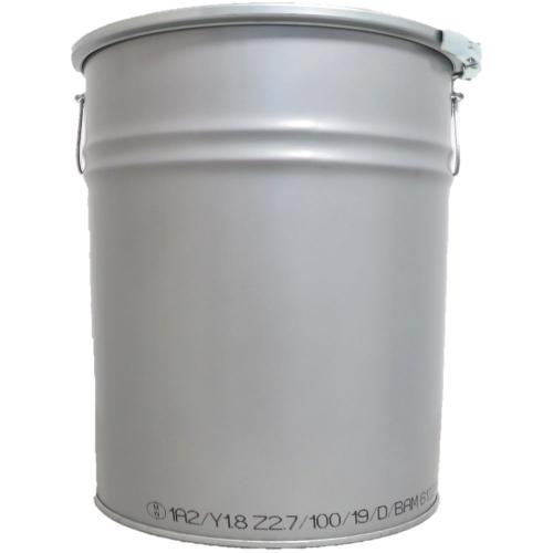 30 Liter Hobbock / Deckelfass Stahlfass Fass Mülleimer Eimer NEU Silber