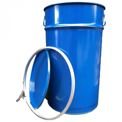 60 Liter Hobbock / Deckelfass Stahlfass Fass Mülleimer Eimer NEU Blau
