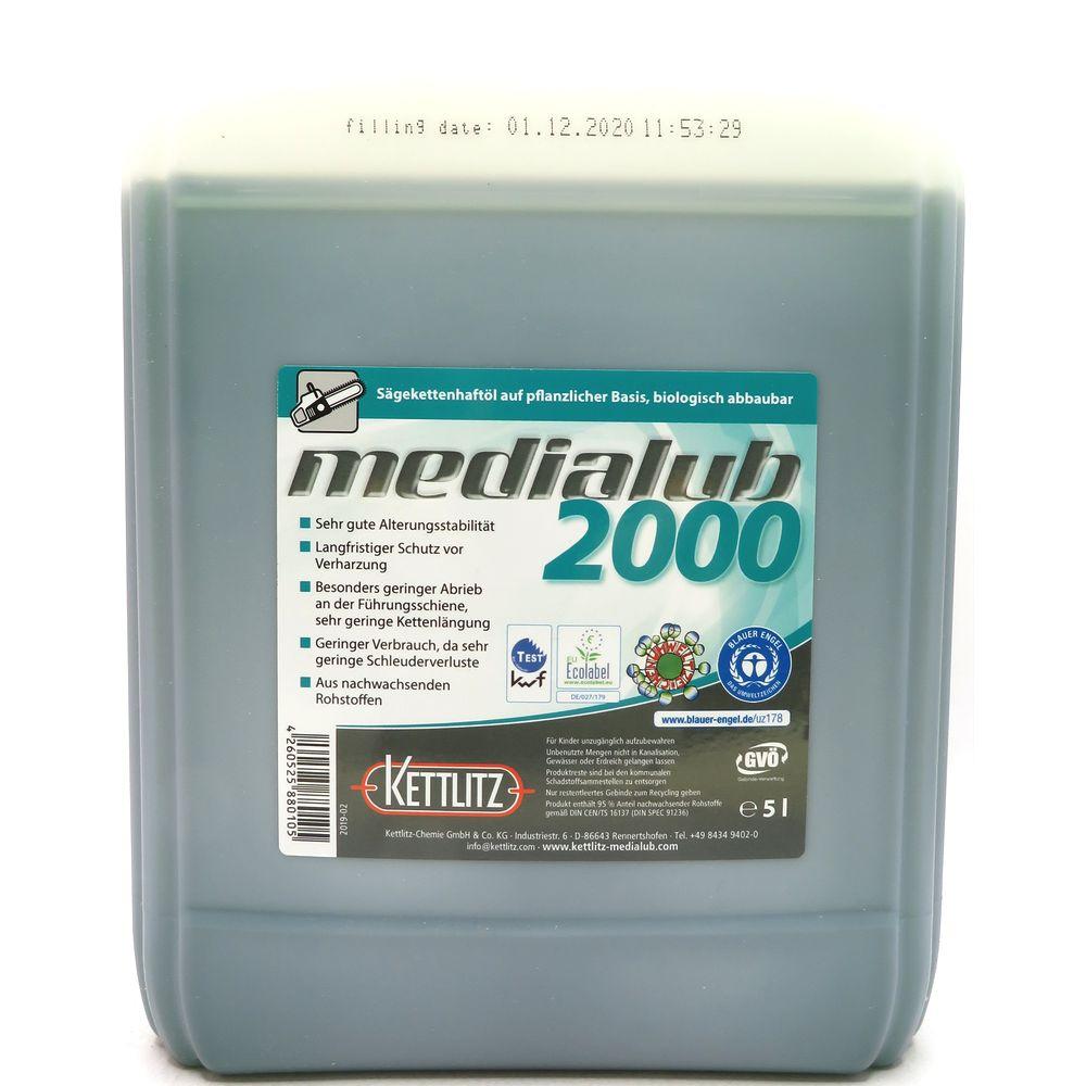5 Liter KETTLITZ-Medialub 2000 BIO Sägekettenhaftöl