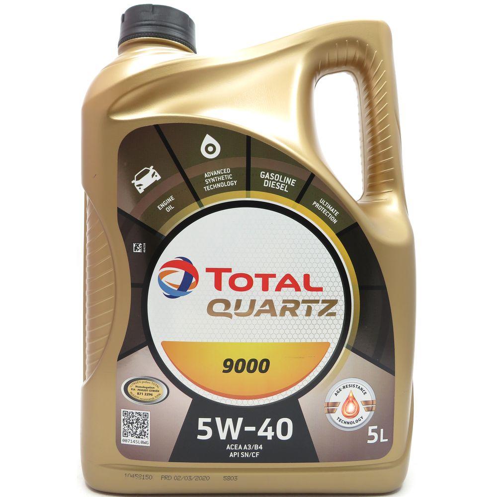 5 Liter TOTAL Quartz 9000 5W-40 Motoröl