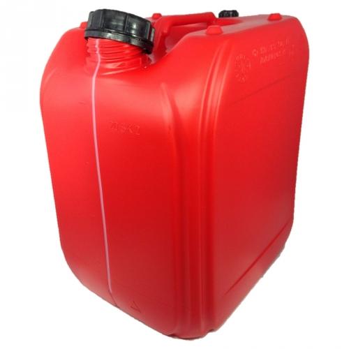 Leere 20 Liter Kanister Farbe: ROT mit Entlüftung