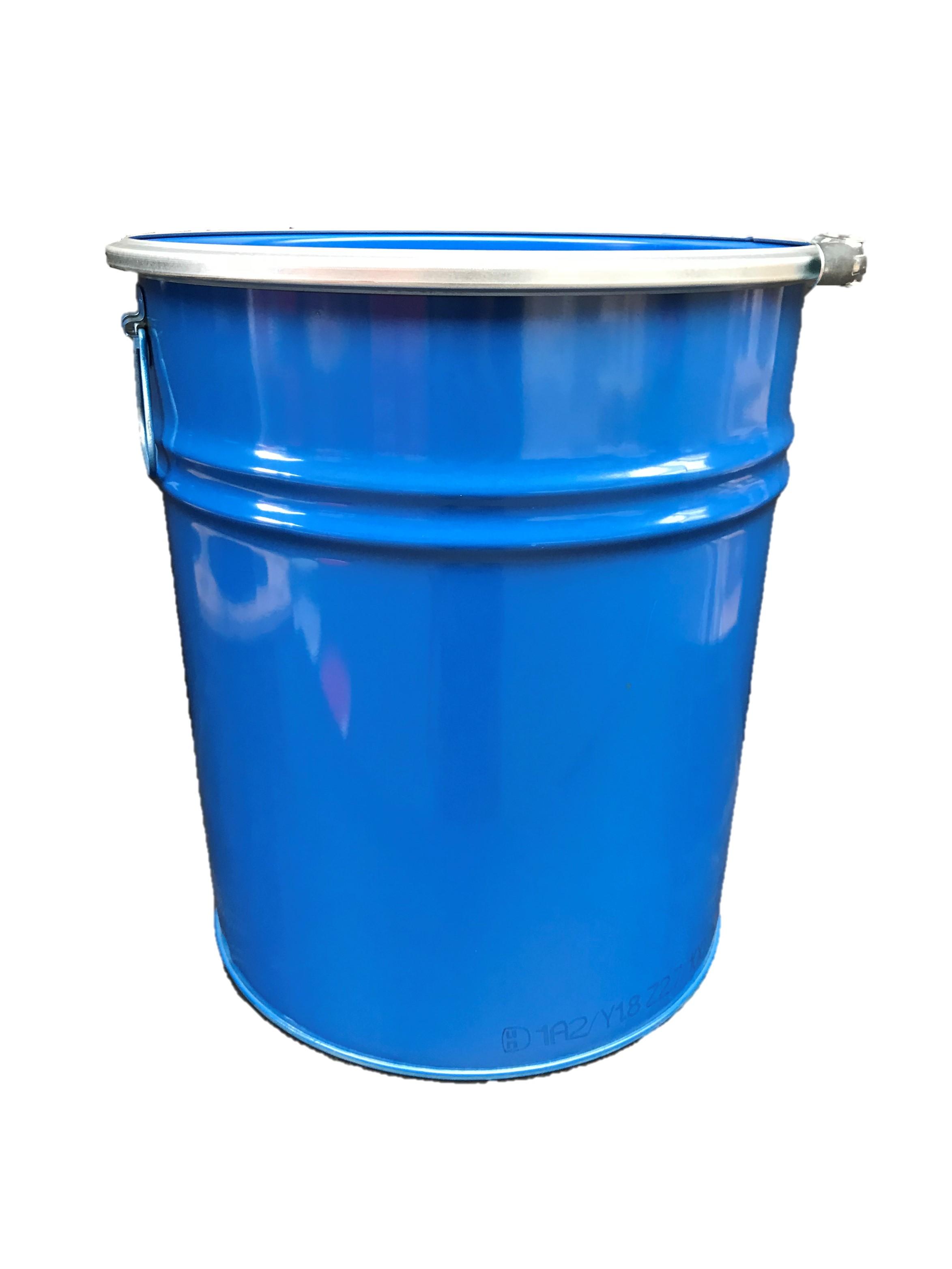 30 Liter Hobbock / Deckelfass Stahlfass Fass Mülleimer Eimer NEU Blau