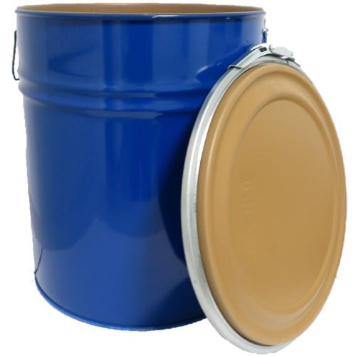 30 Liter Hobbock / Deckelfass Stahlfass Fass Mülleimer Eimer NEU Blau innen-beschichtet