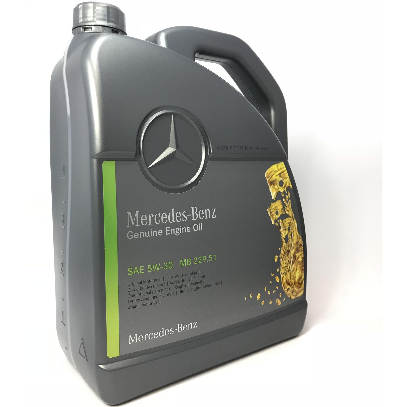 5 Liter Original Mercedes Motoröl 5W-30 MB 229.51