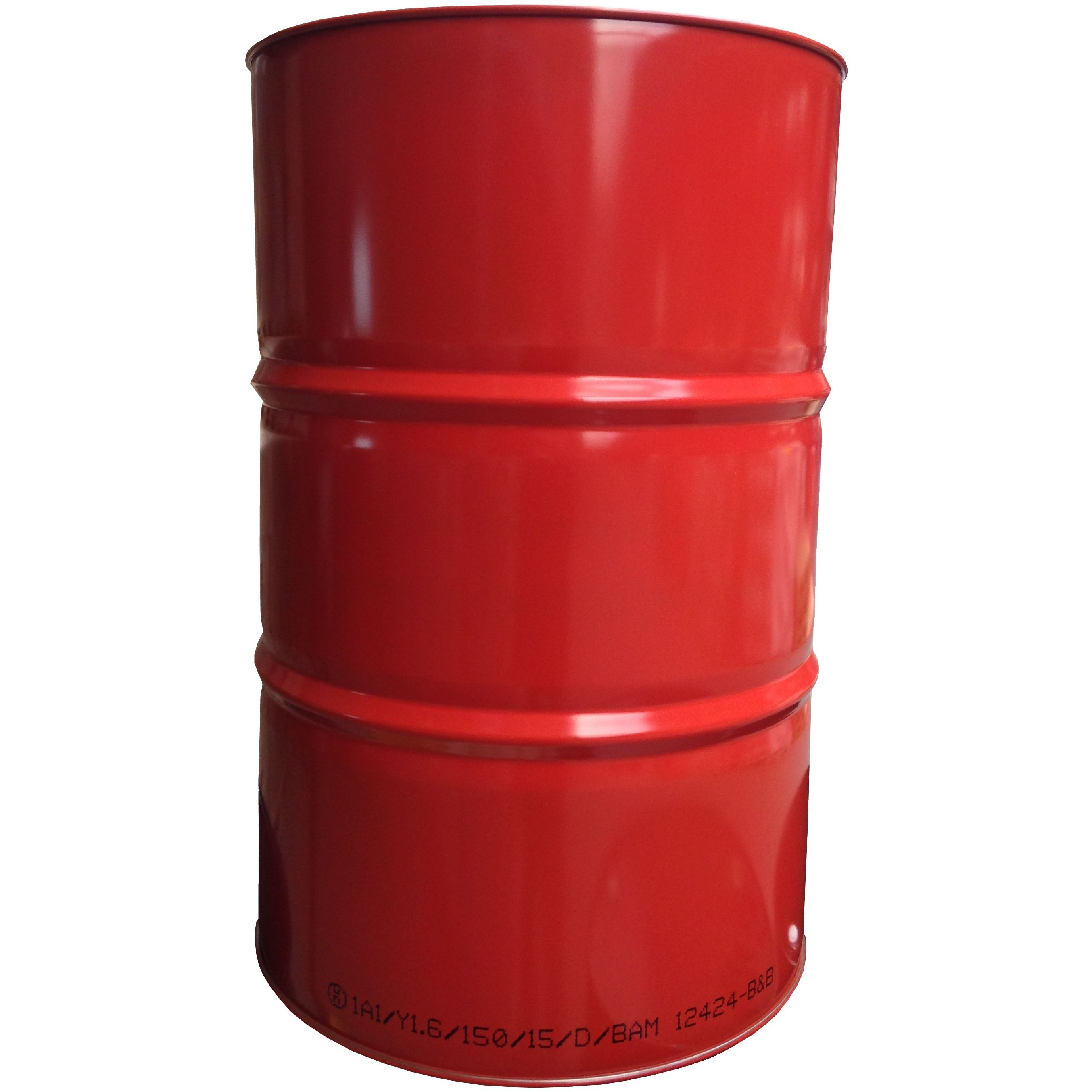 216 Liter Blechfass Stahlfass Faß Garagenfaß Ölfass Metallfass Tonne *NEU* ROT RAL 3000