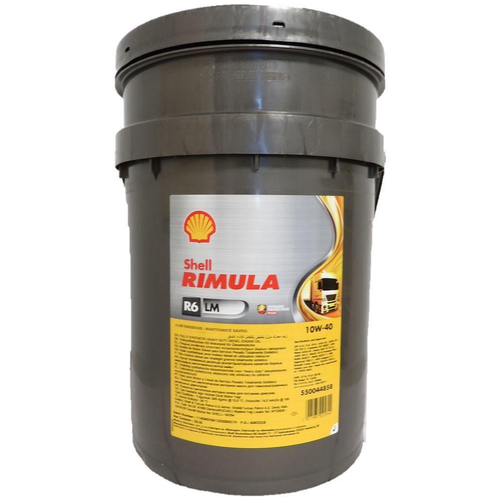 20 Liter Shell Rimula R6 LM 10W-40 für Nutzfahrzeuge