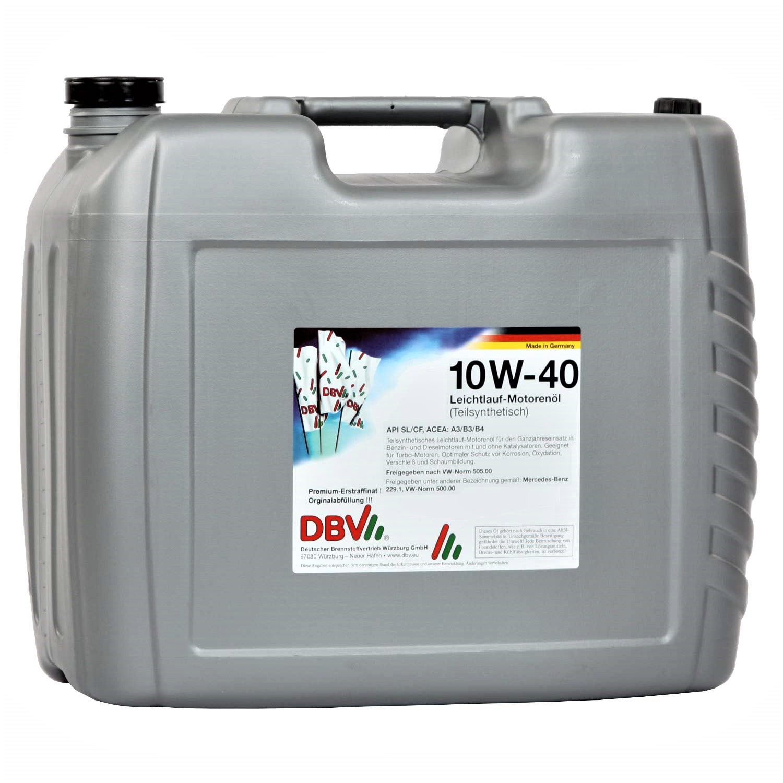 20 Liter DBV 10W-40 / DBV-Leichtlauf-Motorenöl (teilsynthetisch)