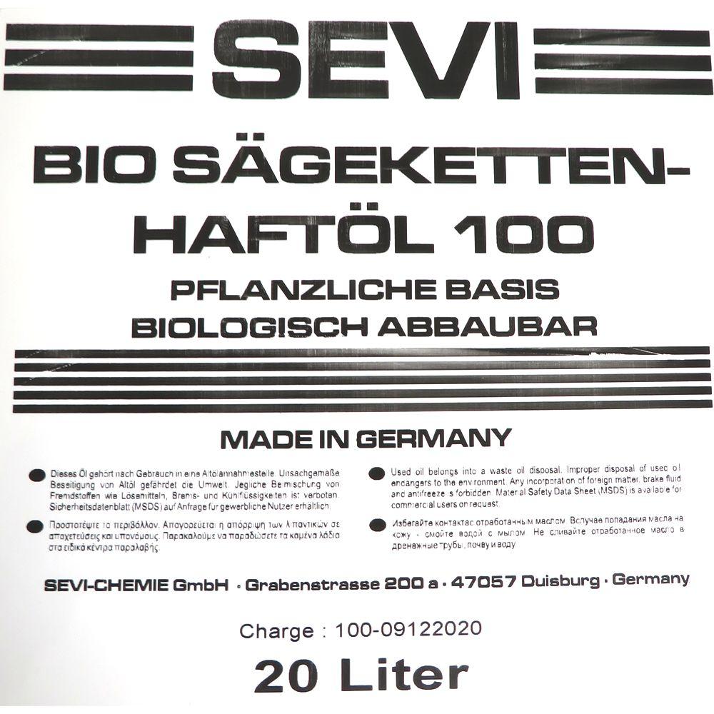 20 Liter SEVI BIO SÄGEKETTENHAFTÖL 100