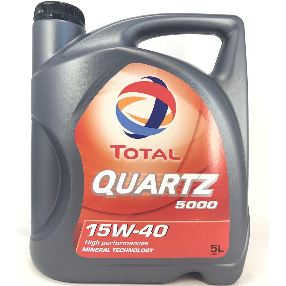 5 Liter Total Quartz 5000 15W-40