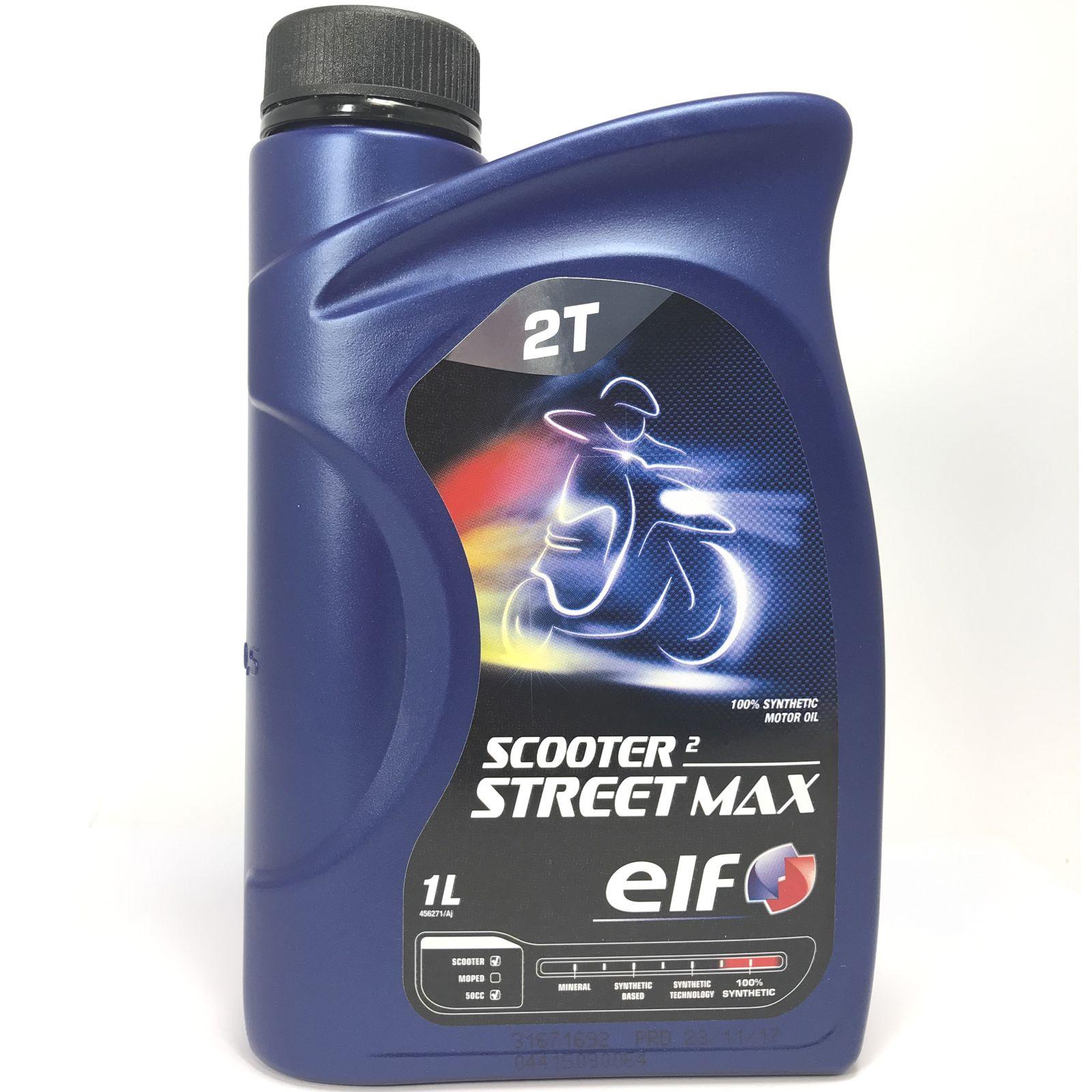 1 Liter elf SCOOTER 2 STREET MAX / speziell für 2-Takt-Rollermotoren