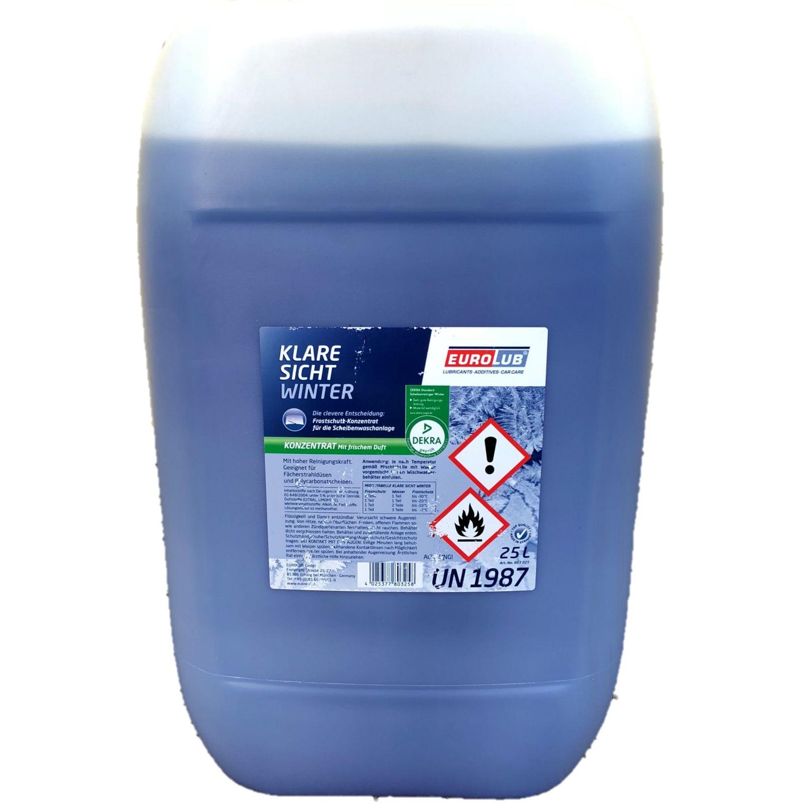 25 Liter Kanister EUROLUB Klare Sicht Winter Konzentrat bis -60°