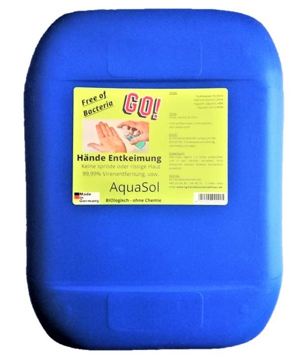 5 Liter AquaSol Hände Entkeimung Desinfektion