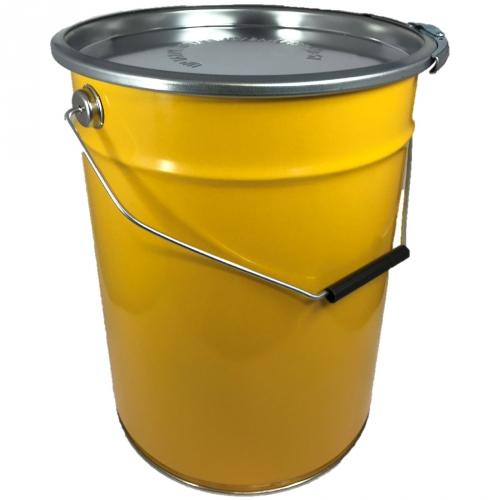 20 Liter Hobbock / Deckelfass Mülleimer Stahlfass Fass Eimer NEU GELB