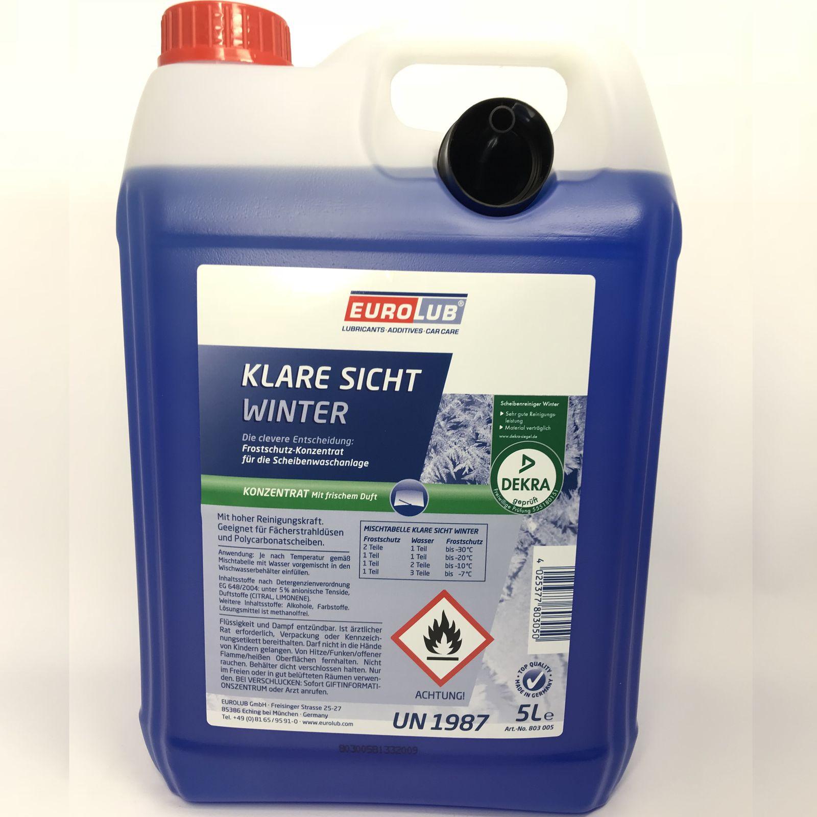 5 Liter Kanister EUROLUB Klare Sicht Winter Konzentrat bis -60° mit Ausgießer