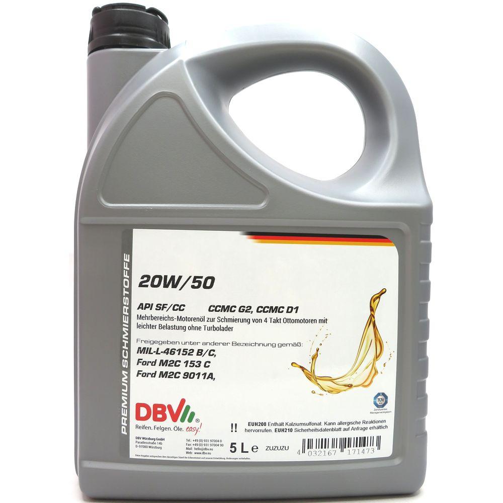 5 Liter DBV 20W-50 (Oldtimeröl)