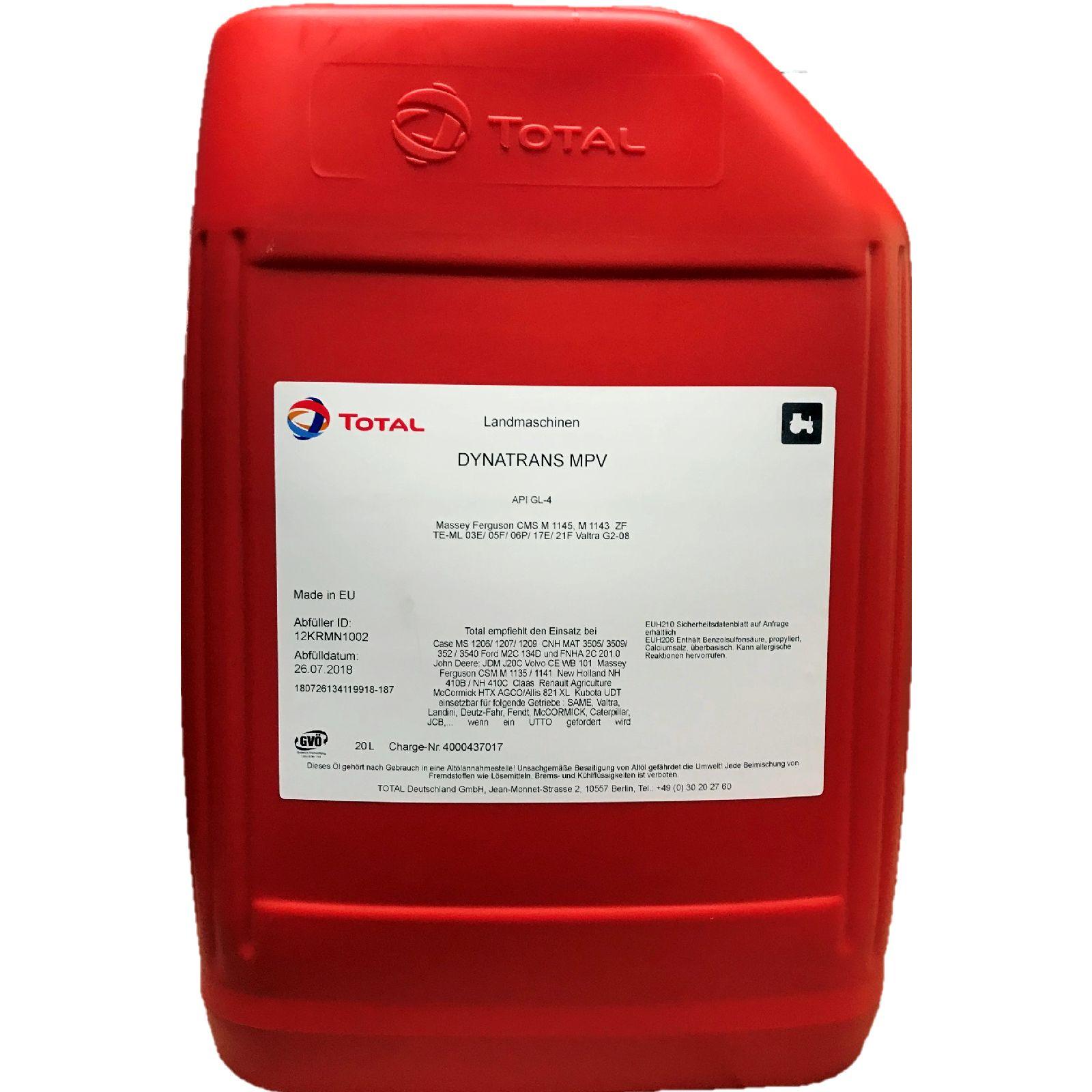 20 Liter Total Dynatrans MPV