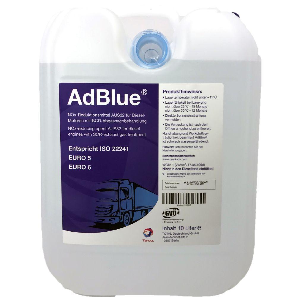 10 Liter Total AdBlue® wässrige Lösung reinen synthetischen Harnstoff ISO 22241