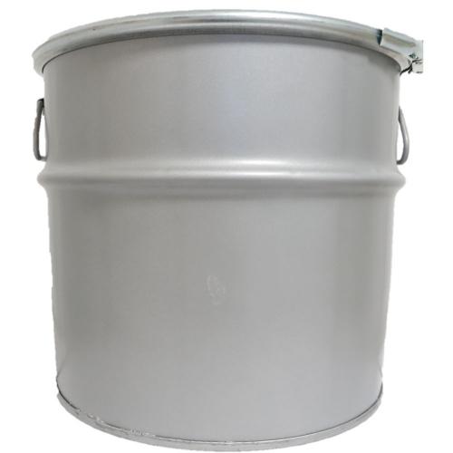 34 Liter Hobbock / Deckelfass Stahlfass Fass Mülleimer Eimer NEU Silber