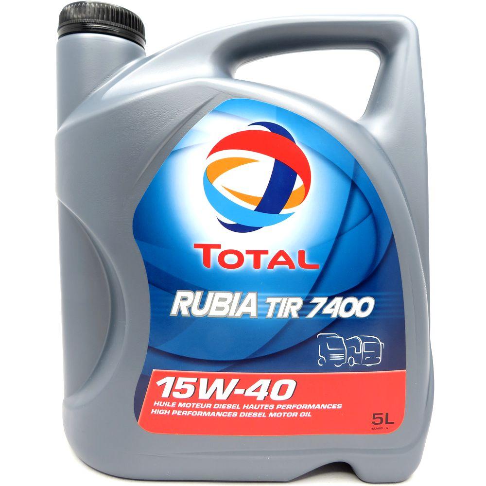 5 Liter Total Rubia TIR 7400 15W-40