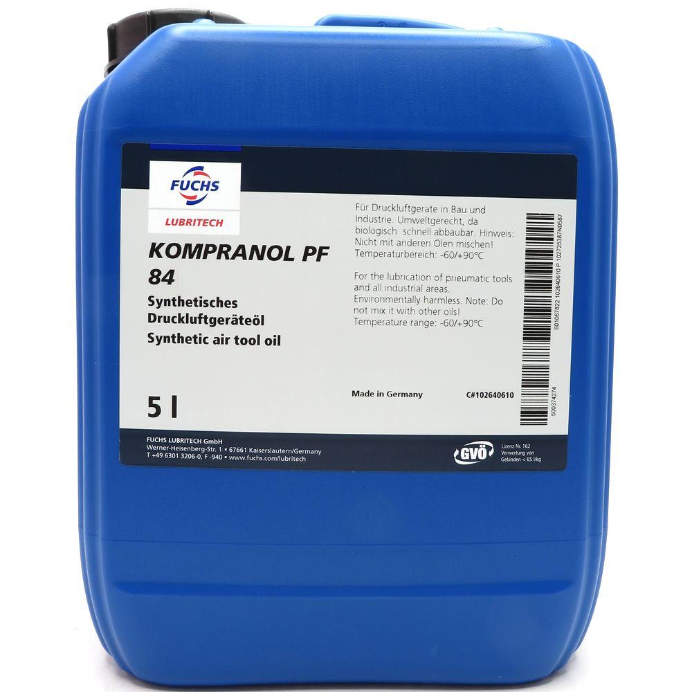 5 Liter Fuchs Kompranol PF 84 Druckluftgeräteöl